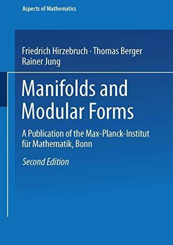 9783528164140: Manifolds and Modular Forms (Aspects of Mathematics)