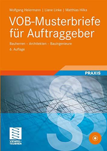 9783528216641: VOB-Musterbriefe für Auftraggeber: Bauherren - Architekten - Bauingenieure