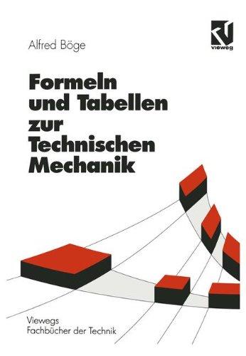 9783528240127: Formeln und Tabellen zur Technischen Mechanik (Viewegs Fachbücher der Technik) (German Edition)