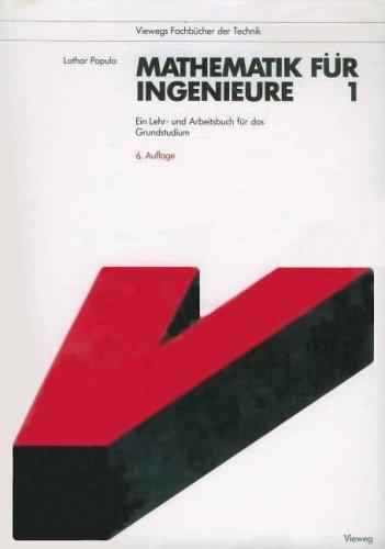 9783528242367: Mathematik für Ingenieure 1. Ein Lehr- und Arbeitsbuch für das Grundstudium