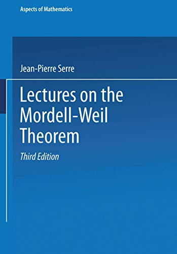 9783528289683: Lectures on the Mordell-Weil Theorem (Aspects of Mathematics)