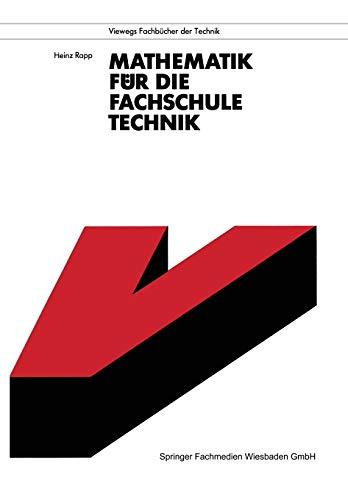9783528342142: Mathematik für die Fachschule Technik (Viewegs Fachbücher der Technik)