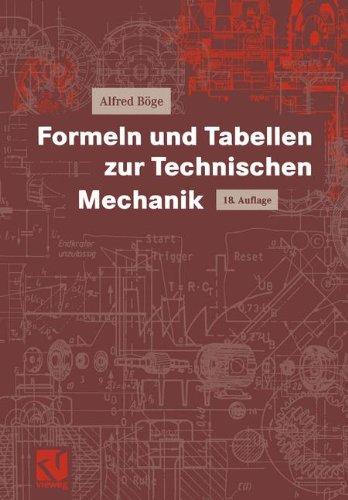 9783528440121: Formeln und Tabellen zur Technischen Mechanik (Viewegs Fachbücher der Technik) (German Edition)