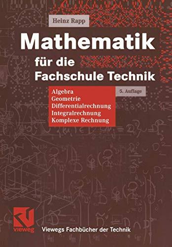 9783528449605: Mathematik für die Fachschule Technik