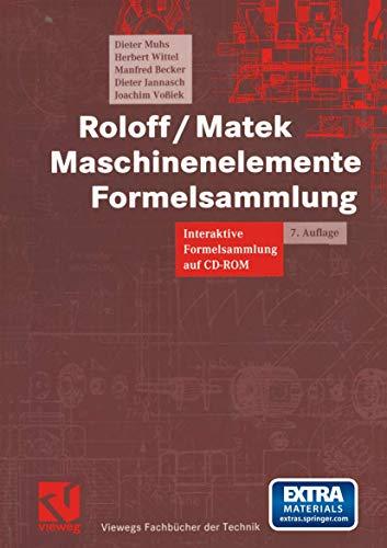 9783528644826: Maschinenelemente Formelsammlung. Interaktive Formelsammlung auf CD-ROM.