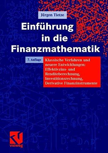 9783528665524: Einführung in die Finanzmathematik