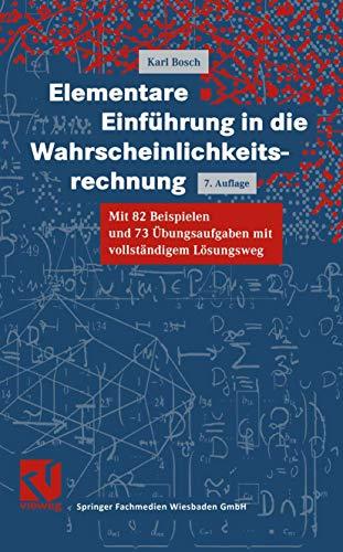 9783528672256: Vieweg Studium, Elementare Einführung in die Wahrscheinlichkeitsrechnung (Livre en allemand)
