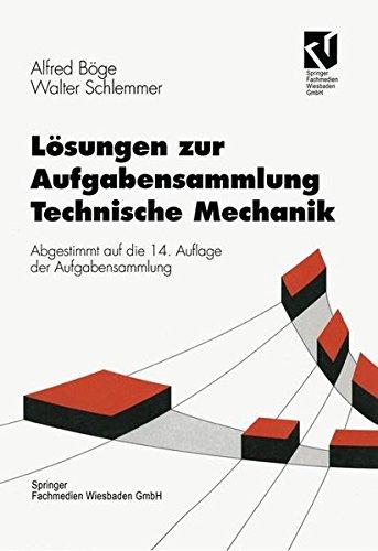 9783528840297: Lösungen zur Aufgabensammlung Technische Mechanik (Viewegs Fachbücher der Technik)
