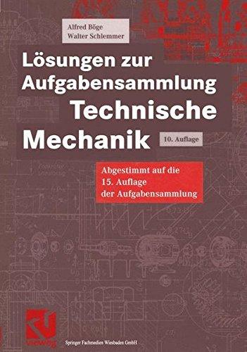 9783528940294: Lösungen zur Aufgabensammlung Technische Mechanik (Viewegs Fachbücher der Technik)