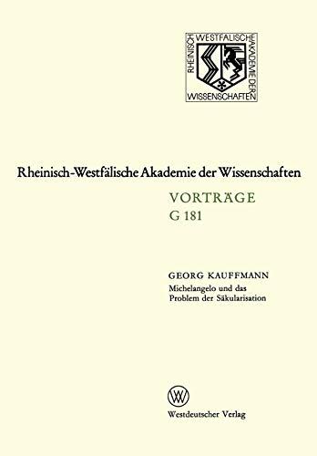 Michelangelo und das Problem der S: Georg Kauffmann