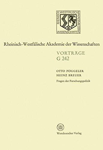 Fragen der Forschungspolitik: 239. Sitzung am 18.: Pöggeler, Otto