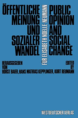 9783531115337: Öffentliche Meinung und sozialer Wandel / Public Opinion and Social Change (German Edition)