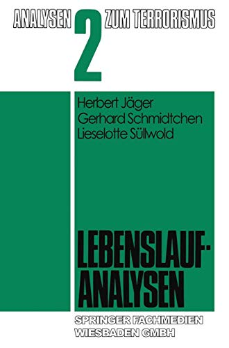 9783531115900: Lebenslaufanalysen (Analysen zum Terrorismus) (German Edition)