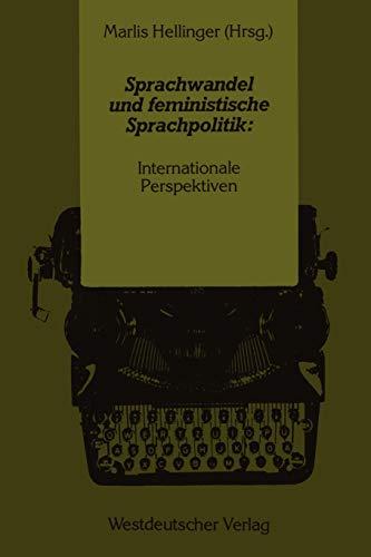 9783531117416: Sprachwandel und feministische Sprachpolitik: Internationale Perspektiven