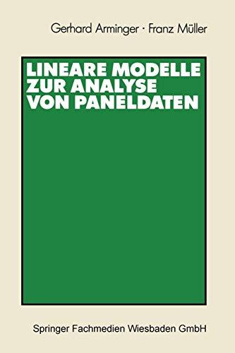 9783531121765: Lineare Modelle zur Analyse von Paneldaten
