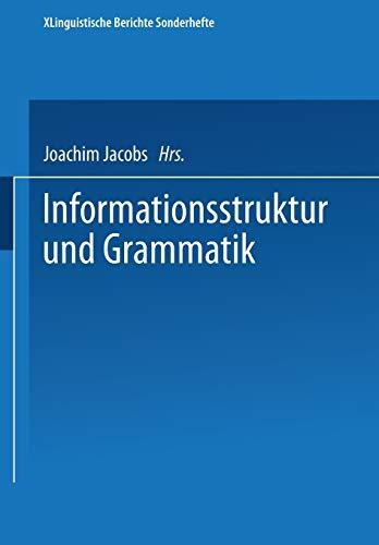 9783531122946: Informationsstruktur und Grammatik (Linguistische Berichte Sonderhefte) (German Edition)