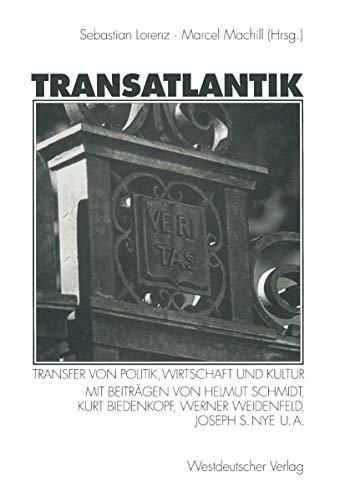 9783531132822: Transatlantik: Transfer von Politik, Wirtschaft und Kultur