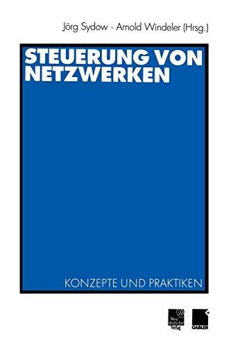 9783531132860: Steuerung von Netzwerken: Konzepte und Praktiken