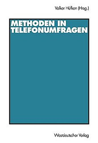9783531134390: Methoden in Telefonumfragen.