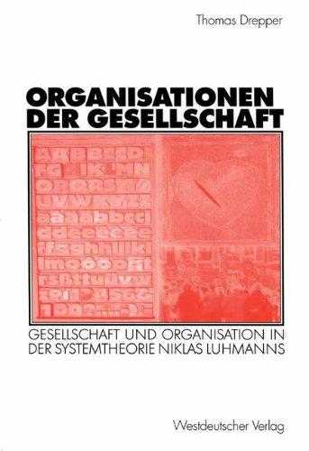Organisationen der Gesellschaft: Thomas Drepper