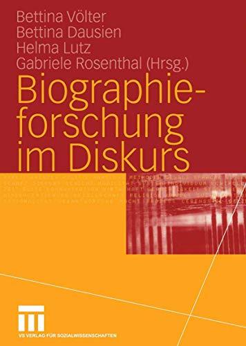 9783531142418: Biographieforschung im Diskurs