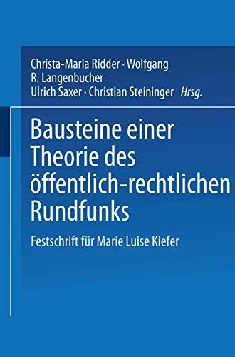 9783531143880: Bausteine einer Theorie des öffentlich-rechtlichen Rundfunks: Festschrift für Marie Luise Kiefer (German Edition)