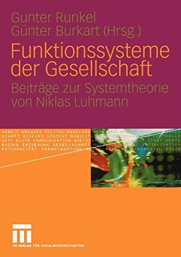 9783531147444: Funktionssysteme Der Gesellschaft: Beitrage Zur Systemtheorie Von Niklas Luhmann