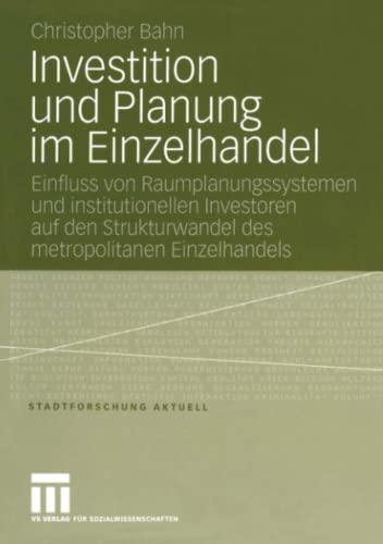 Investition und Planung im Einzelhandel: Christopher Bahn