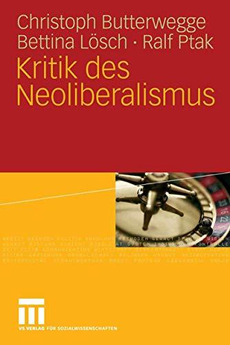 9783531151854: Kritik des Neoliberalismus