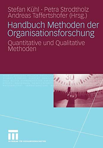 9783531158273: Handbuch Methoden der Organisationsforschung: Quantitative und Qualitative Methoden (German Edition)