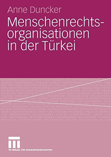 9783531162454: Menschenrechtsorganisationen in der Türkei