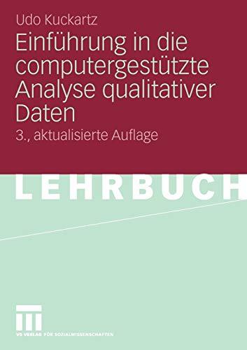 9783531166612: Einführung in die computergestützte Analyse qualitativer Daten