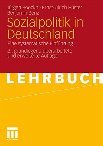 9783531166698: Sozialpolitik in Deutschland: Eine systematische Einführung (German Edition)