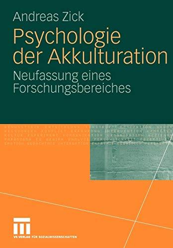 9783531168289: Psychologie der Akkulturation: Neufassung eines Forschungsbereiches (German Edition)