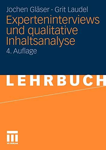 9783531172385: Experteninterviews und qualitative Inhaltsanalyse: als Instrumente rekonstruierender Untersuchungen