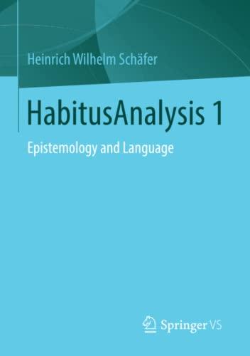 HabitusAnalysis 1: Heinrich Wilhelm Schäfer