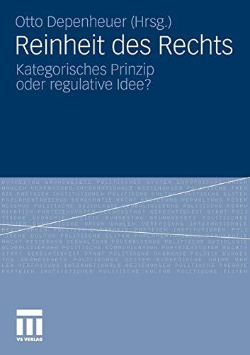 9783531175645: Reinheit des Rechts: Kategorisches Prinzip oder regulative Idee? (German Edition)