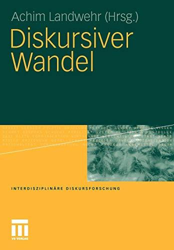 9783531175799: Diskursiver Wandel (Interdisziplinäre Diskursforschung) (German Edition)
