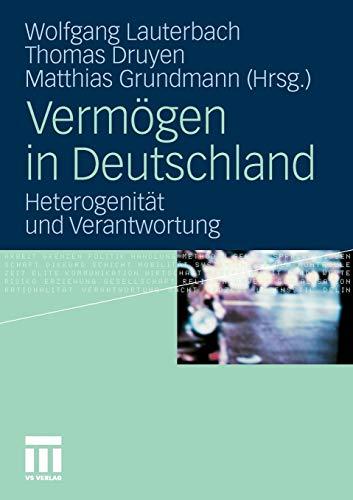 9783531176895: Vermögen in Deutschland: Heterogenität und Verantwortung (German Edition)