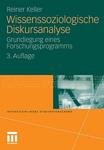 9783531178370: Wissenssoziologische Diskursanalyse: Grundlegung eines Forschungsprogramms (Interdisziplin�re Diskursforschung)
