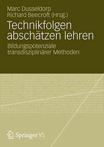 9783531179087: Technikfolgen absch�tzen lehren: Bildungspotenziale transdisziplin�rer Methoden