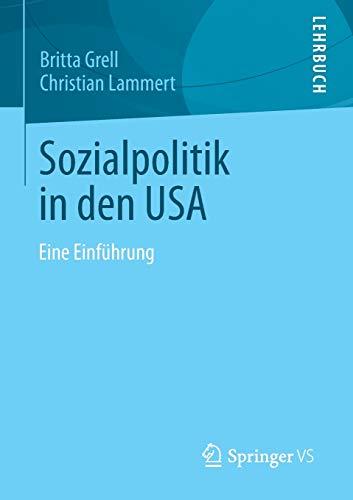 9783531181332: Sozialpolitik in den USA: Eine Einführung (German Edition)