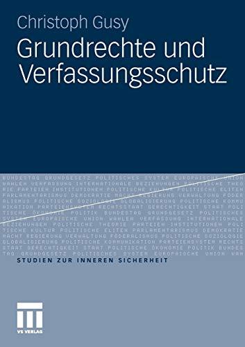 9783531181806: Grundrechte und Verfassungsschutz (Studien zur Inneren Sicherheit)