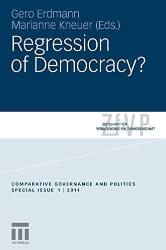 9783531182162: Regression of Democracy? (Zeitschrift für Vergleichende Politikwissenschaft – Sonderhefte)