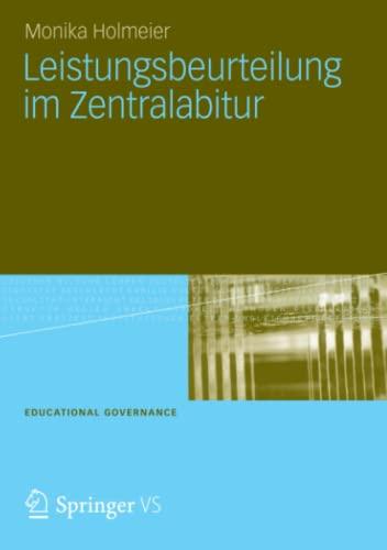 9783531197241: Leistungsbeurteilung im Zentralabitur (Educational Governance) (German Edition)