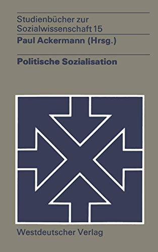 9783531211848: Politische Sozialisation (Studienbücher zur Sozialwissenschaft)