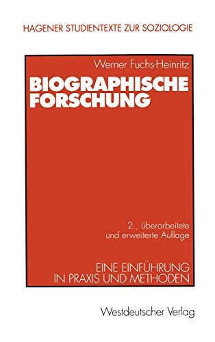 9783531331270: Biographische Forschung: Eine Einführung in Praxis und Methoden (Livre en allemand)