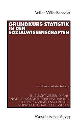 9783531336350: Grundkurs Statistik in den Sozialwissenschaften.
