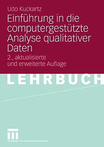 9783531342474: Einführung in die computergestützte Analyse qualitativer Daten