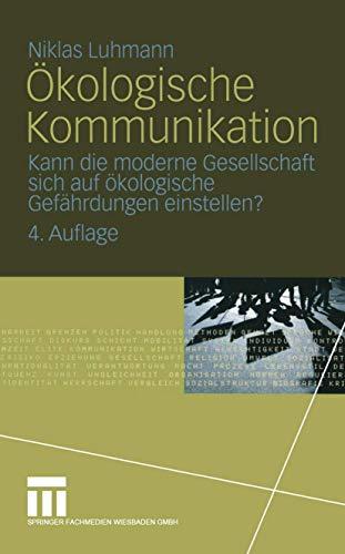 9783531517759: Ökologische Kommunikation.